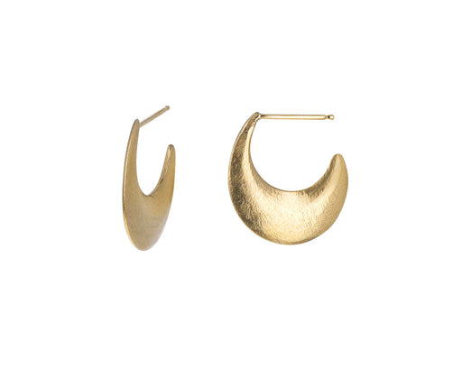 Small Hewn Crescent Earrings