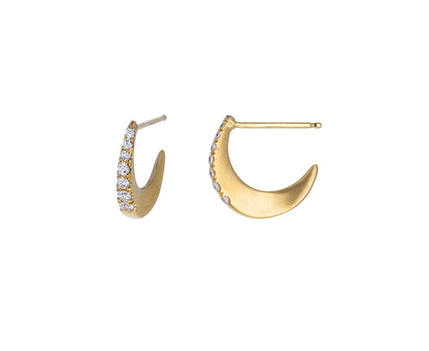 Small Diamond Curl Hoops