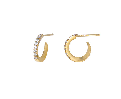 Extra Small Diamond Huggie Hoop Earrings