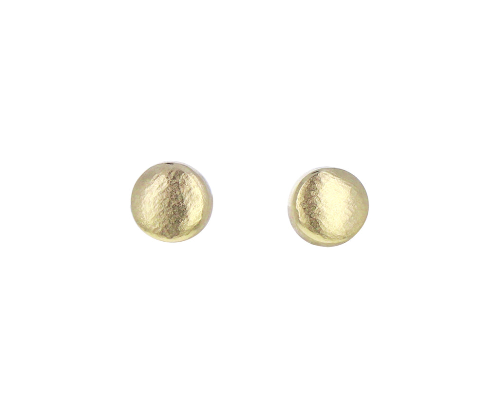 Small Hewn Circle Stud Earrings