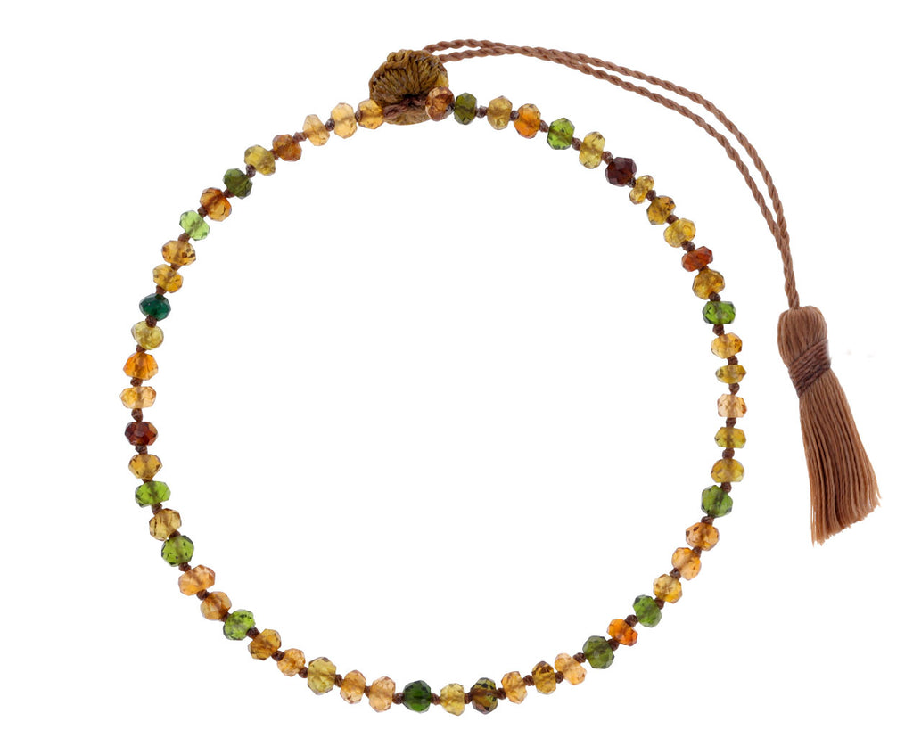 Earth Toned Tourmaline Beaded Bracelet