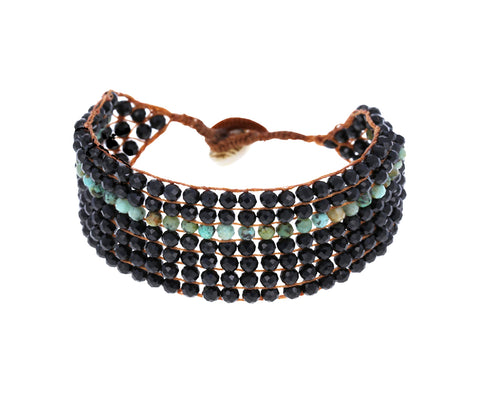 Black Spinel and Turquoise Bracelet - TWISTonline