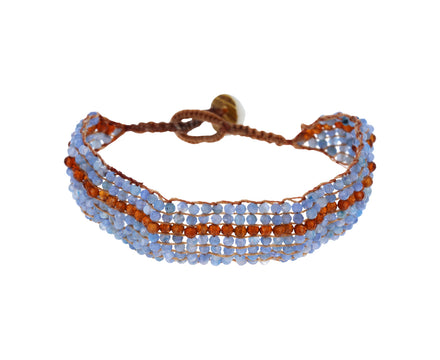 Kyanite and Hessonite Garnet Bracelet
