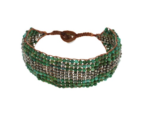 Turquoise and Pyrite Bracelet - TWISTonline