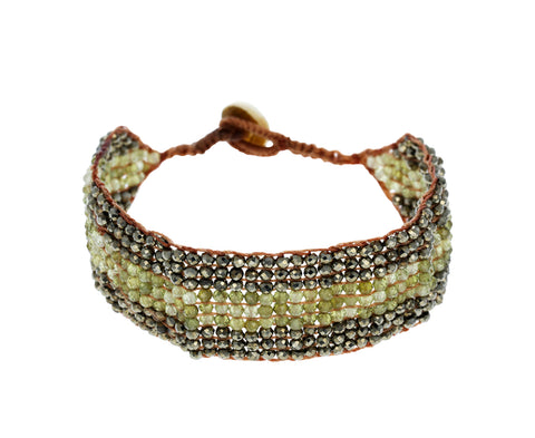 Pyrite and Green Garnet Bracelet - TWISTonline