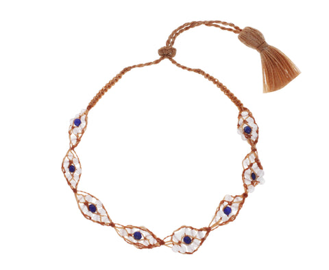 Moonstone and Lapis Evil Eye Bracelet - TWISTonline