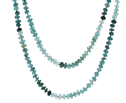 Moss Aquamarine Beaded Necklace