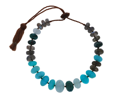 Amazonite, Aquamarine and Labradorite Bracelet