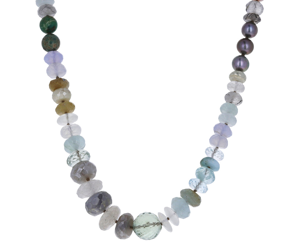 Multi Gem Beaded Necklace