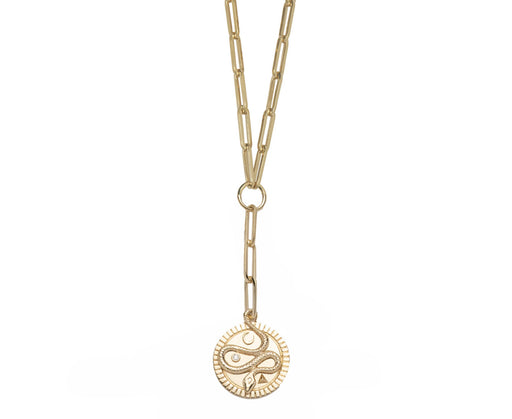 Classic Fob Chain and Medium Wholeness Medallion Necklace
