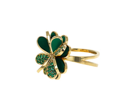 Emerald Lucky You Ring