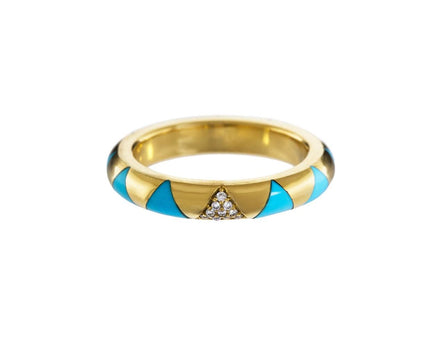 Turquoise Inlay and Diamond Arte Ring - TWISTonline