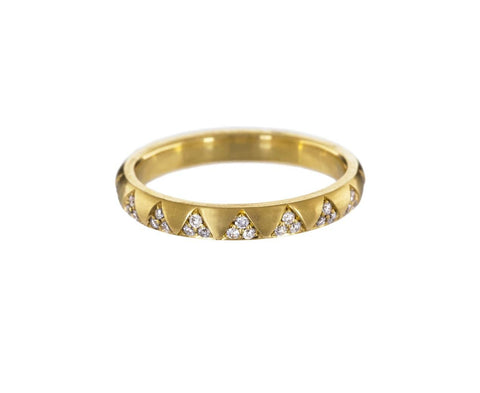 Diamond Triangle Gold Arte Ring - TWISTonline