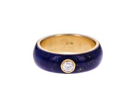 Lapis and Diamond Belsa Ring - TWISTonline
