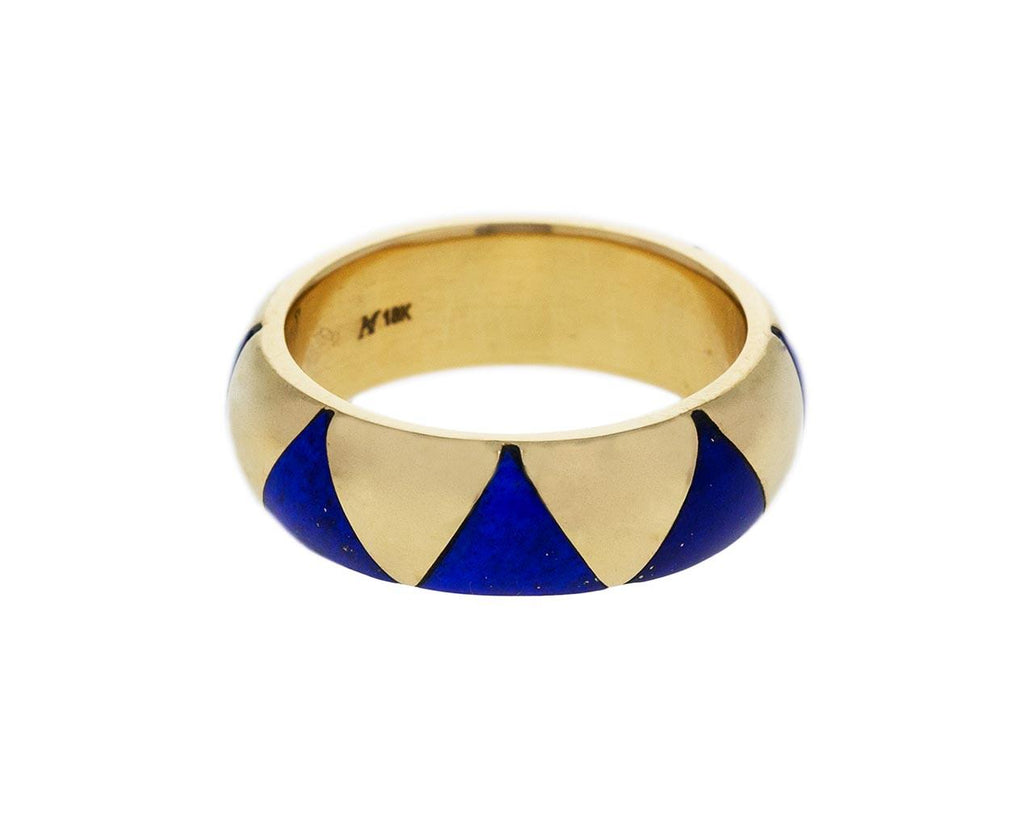 Yellow Gold and Lapis Triangle Arte XL Ring zoom 1_marc_alary_gold_lapis_arte_inlay_ring