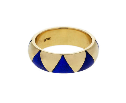 Yellow Gold and Lapis Triangle Arte XL Ring - TWISTonline