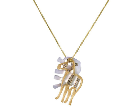 Elephant and Zebra Pendant Necklace - TWISTonline