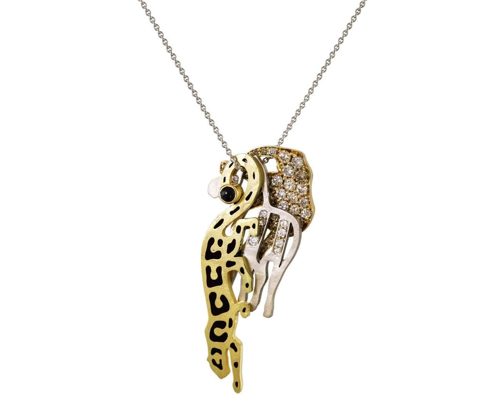 Gold and Diamond Savannah Micro Animal Trio Necklace - TWISTonline