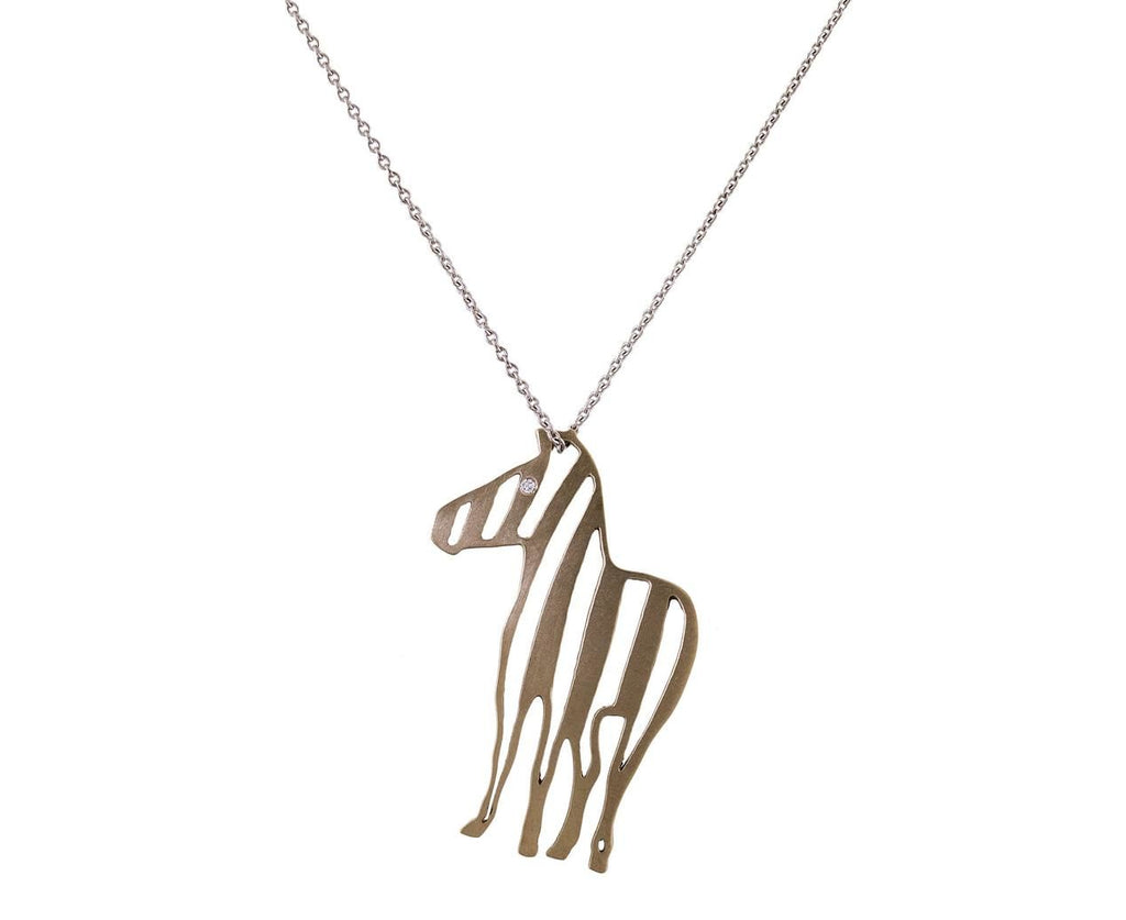 White Gold Zebra Pendant with Diamond - TWISTonline