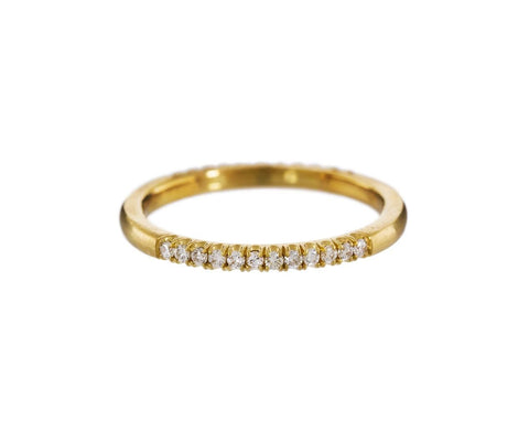Gold Half Diamond Pavé Ring zoom 1_marc_alary_gold_diamond_quarter_pave_ring