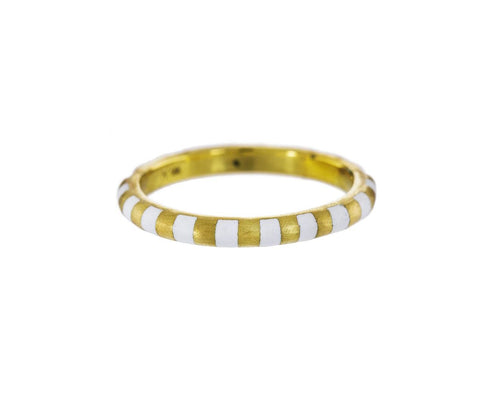 Gold and Enamel Stripe Ring zoom 1_marc_alary_gold_enamel_stripe_ring