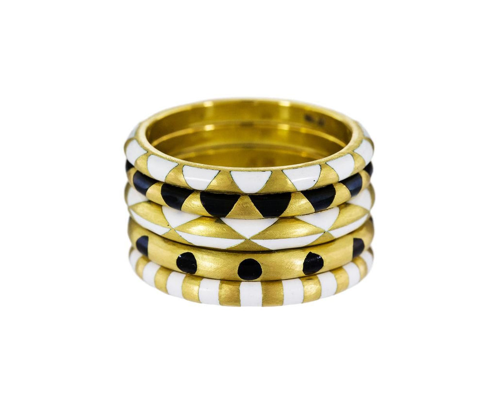 Gold and Enamel Stripe Ring - TWISTonline