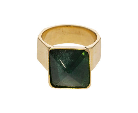 Green Tourmaline Movable Pyramid Ring - TWISTonline