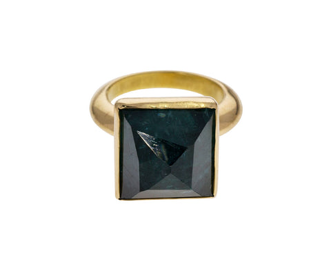 Green Tourmaline Pyramid Ring