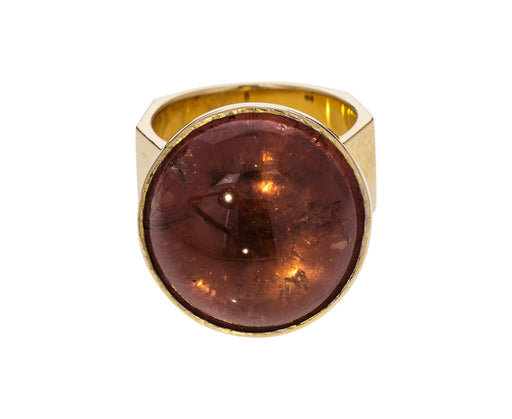 Red Tourmaline Movable Ring