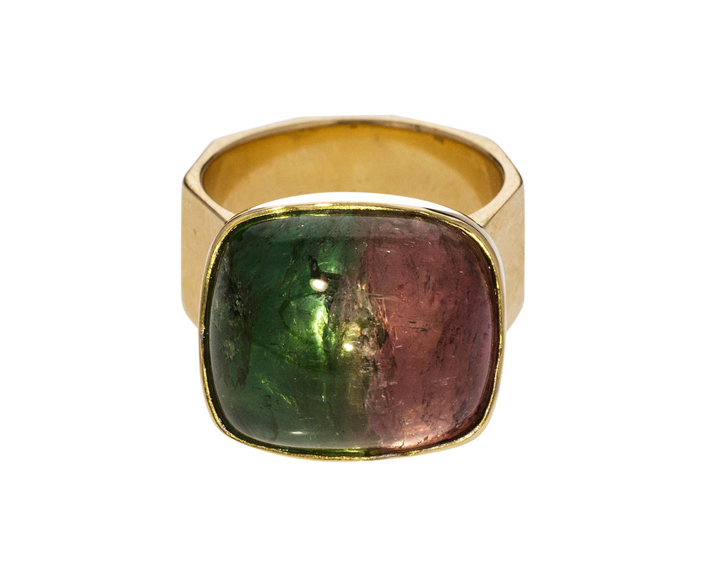 Bicolor Tourmaline Movable Ring