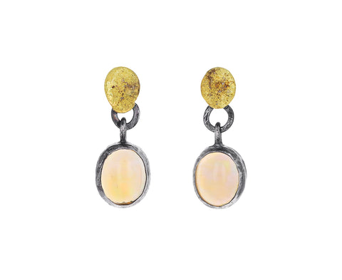 Ethiopian Opal Drop Earrings