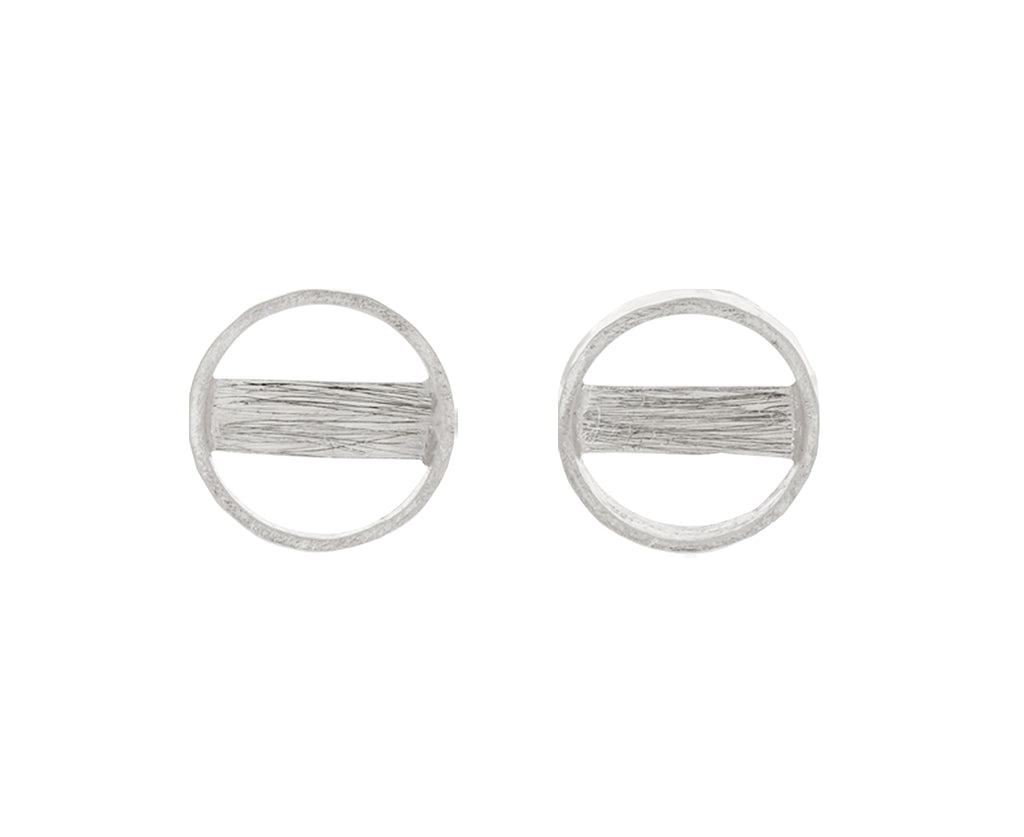 Round Bar Stud Earrings