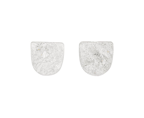 Silver Shield Stud Earrings