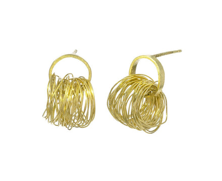 Gold Spaghetti Earrings - TWISTonline