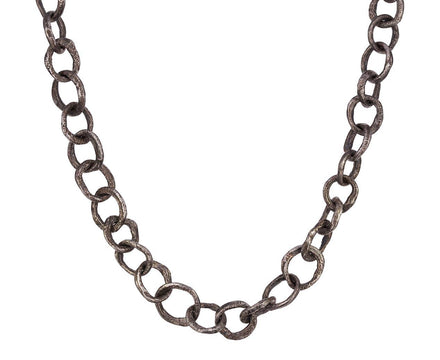 Oxidized Sterling Silver Link Necklace - TWISTonline
