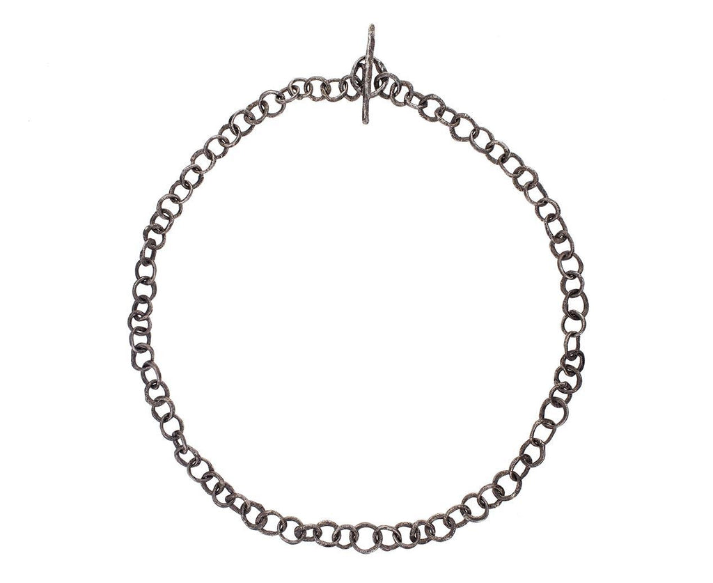 Oxidized Sterling Silver Link Necklace zoom 2_disa_allsopp_silver_organic_chain_necklace