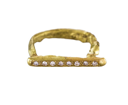Gold and Diamond Horseshoe Ring - TWISTonline