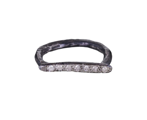 Diamond Linear Horseshoe Ring - TWISTonline