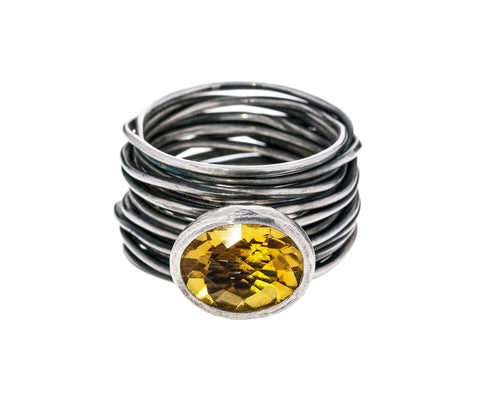 Silver Spaghetti Ring with Citrine zoom 1_disa_allsopp_silver_citrine_spaghetti_ring1