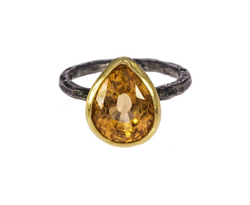 Gold and Silver Citrine Ring - TWISTonline