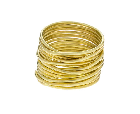 Gold Spaghetti Ring - TWISTonline