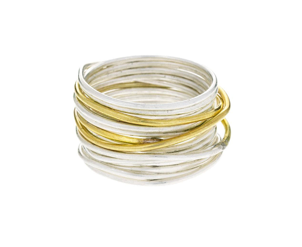 Gold and Silver Spaghetti Ring - TWISTonline