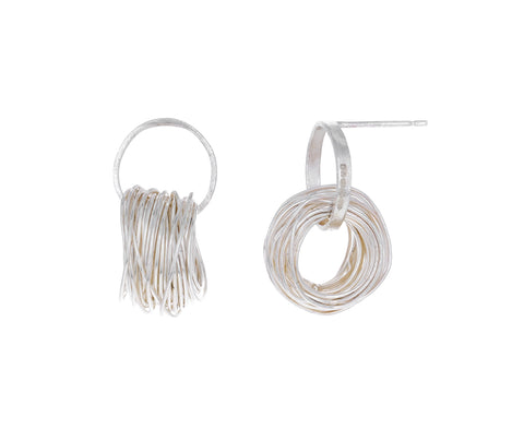Silver Spaghetti Earrings