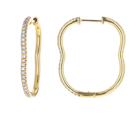 Small Diamond Berceau Hoop Earrings