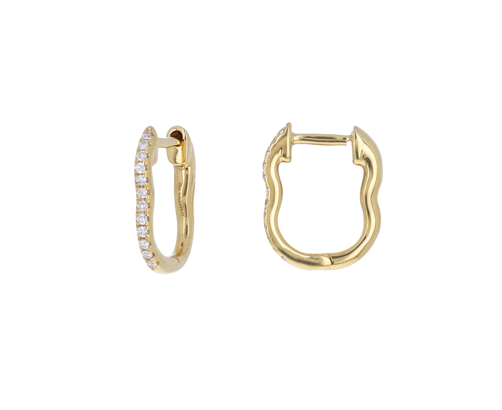 Huggie Diamond Berceau Hoop Earrings