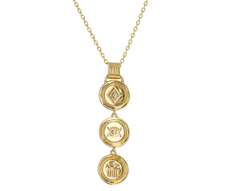 Veni Vidi Vici Medallion Necklace