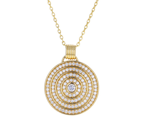 White Diamond Universum Medallion Necklace