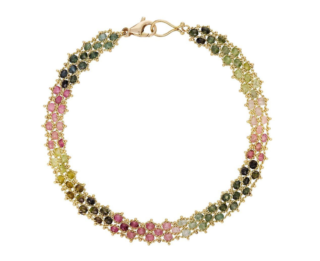 Three Row Mixed Tourmaline Textile Bracelet - TWISTonline