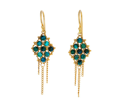 Chrysocolla Textile Earrings