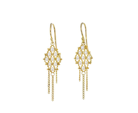 Pearl Textile Earrings - TWISTonline